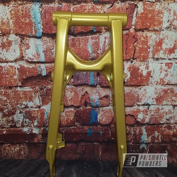 Powder Coated Gold Atv Swing Arm