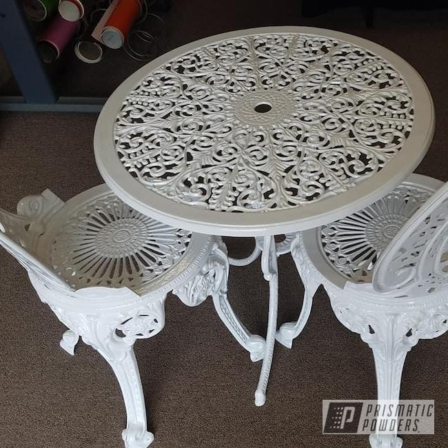 Powder Coating: Patio Funiture,Cast Iron Furniture,Gloss White PSS-5690,lawn furniture,Furniture