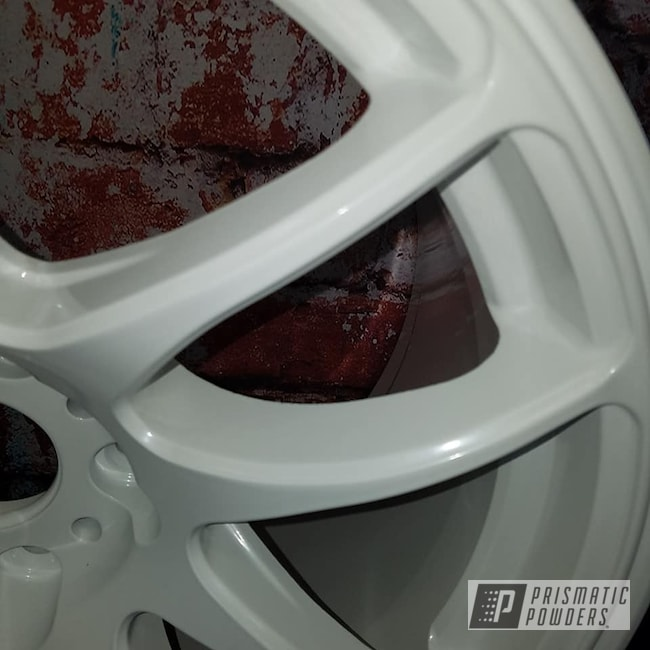 Powder Coating: Wheels,Automotive,Custom Wheels,Aluminum Rims,Pearlized White II PMB-4244