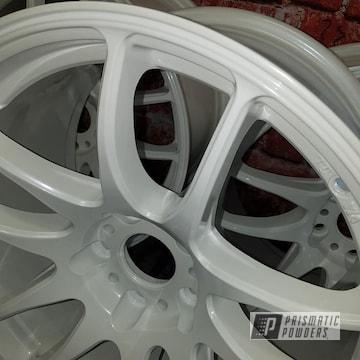 White Powder Coated Aluminum Wheels