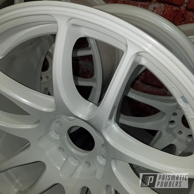 Powder Coating: Wheels,Automotive,Custom Wheels,Aluminum Rims,Pearlized White II PMB-4244