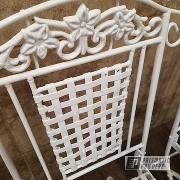 White Powder Coated Decorative Furniture
