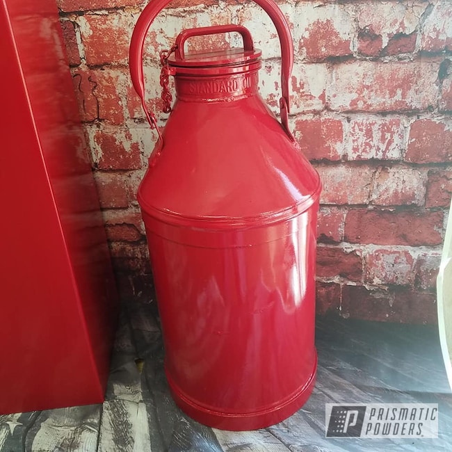 Powder Coating: Vintage,RAL 3002 RAL-3002,Oil Can,Miscellaneous