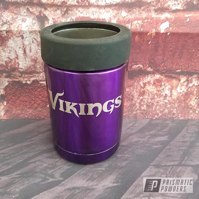 Powder Coating: NFL Theme,Drinkware,Lollypop Purple PPS-1505,Can Koozie,Minnesota Vikings,NFL Football