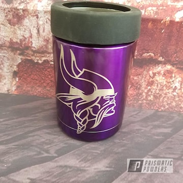 Powder Coated Minnesota Vikings Themed Can Koozie