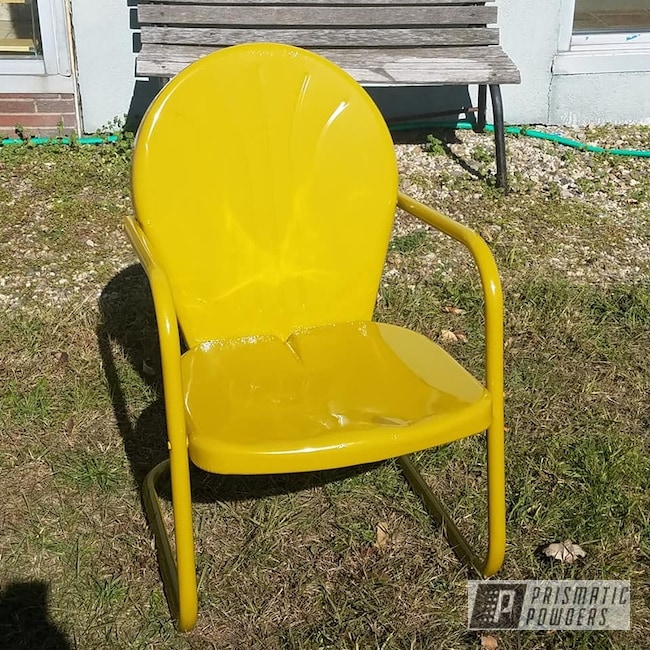 Powder Coated Yellow Patio Furniture
