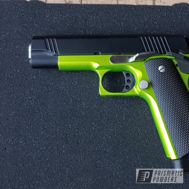 Powder Coating: Clear Vision PPS-2974,pistol,Ink Black PSS-0106,Gun,Illusion Shocker PMB-10050,Casper Clear PPS-4005
