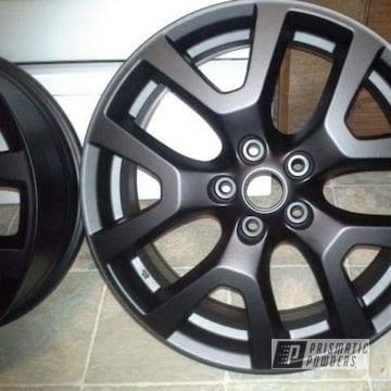 Powder Coated Black Wheels Nissan Rogue Wheels