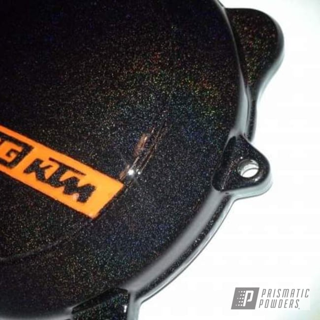 Powder Coating: KTM,Motorcycle Parts,250sx,Motorcycles,Rainbow's End PMB-2691,Engine Cover