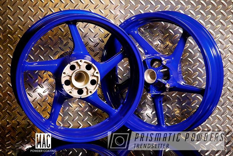 Powder Coating: Wheels,Motorcycle Rims,Yamaha,MANHATTAN BLUE UMB-1930,Motorcycles