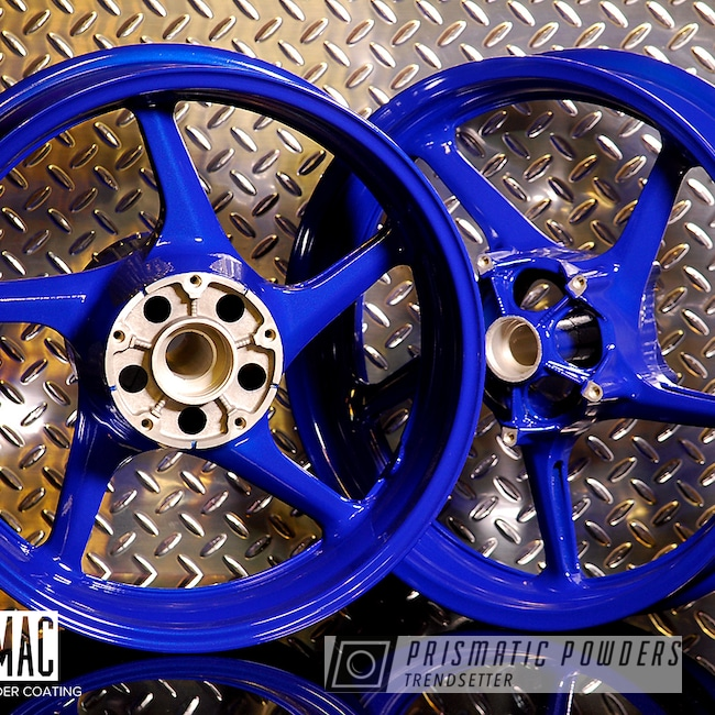 Powder Coating: Wheels,Motorcycle Rims,Yamaha,MANHATTAN BLUE UMB-1930,Motorcycles