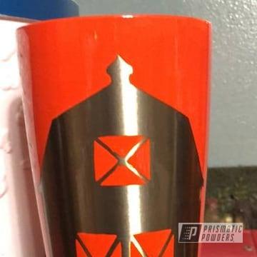 Orange Powder Coated Tumbler Cup