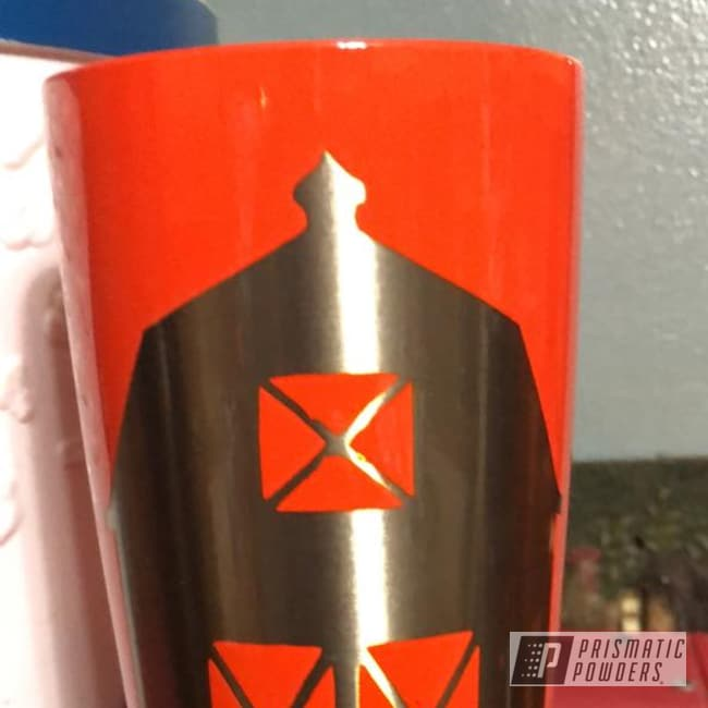 Powder Coating: Clear Vision PPS-2974,Tumbler,20oz Tumbler,Illusion Orange PMS-4620