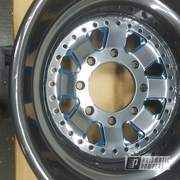 Pearlized Black Powder Coated Wheels
