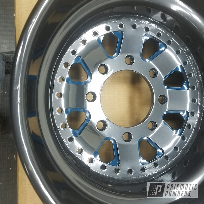 Powder Coating: Wheels,Automotive,Custom Wheels,#customwheels #rockclimber,PEARLIZED BLACK PMB-1237