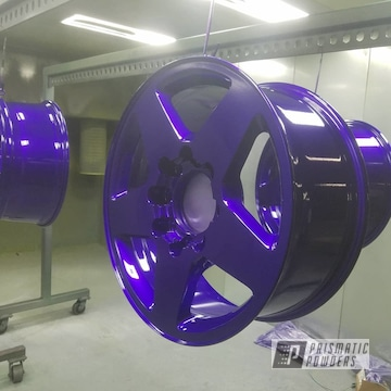 Powder Coated Purple Wheels