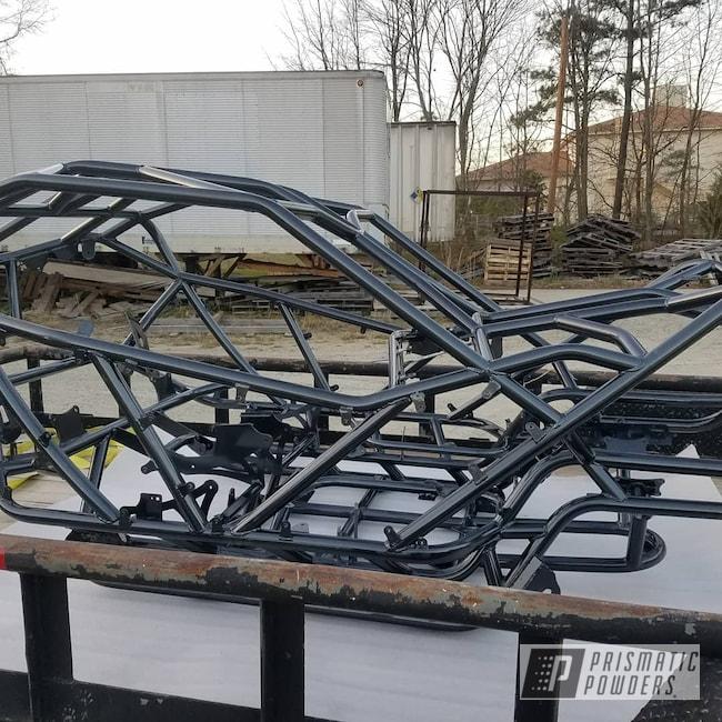 Powder Coating: Custom Frame,Rock Racing,PEARLIZED BLACK PMB-1237,Rock Crawler