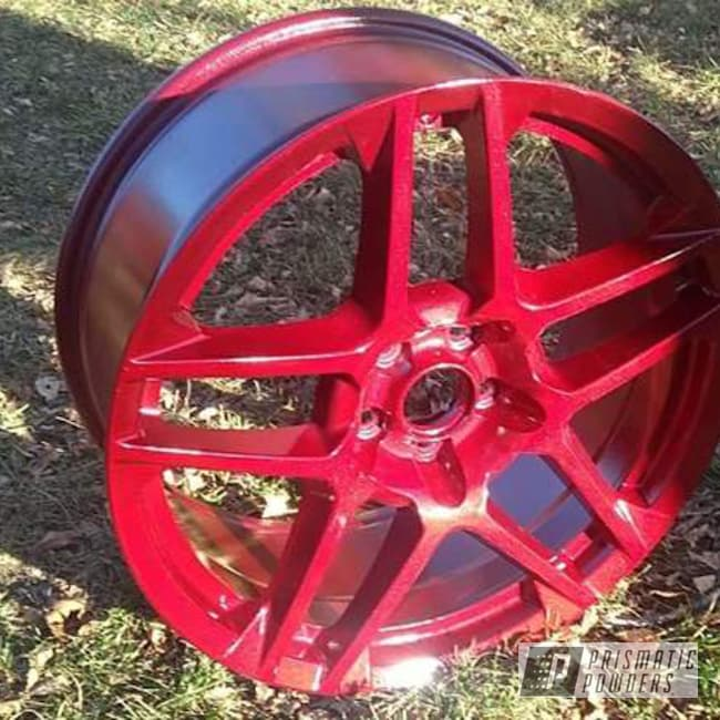 Powder Coating: Wheels,Automotive,Clear Vision PPS-2974,Shelby,Illusion Cherry PMB-6905,gt500,Ford,Cobra,Cobra Rims