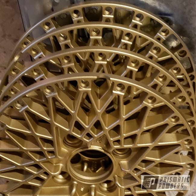 Powder Coating: Wheels,Automotive,Formula Mesh,3 Pieces,SSR,3pc Wheels,Gold,Spanish Gold EMS-0940