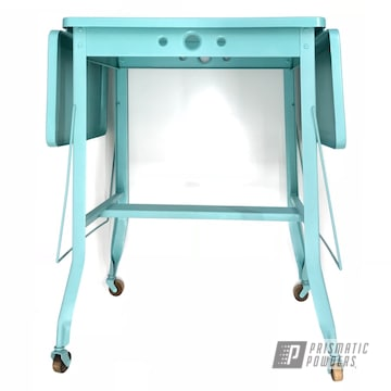 Powder Coated Turquoise Antique Desk