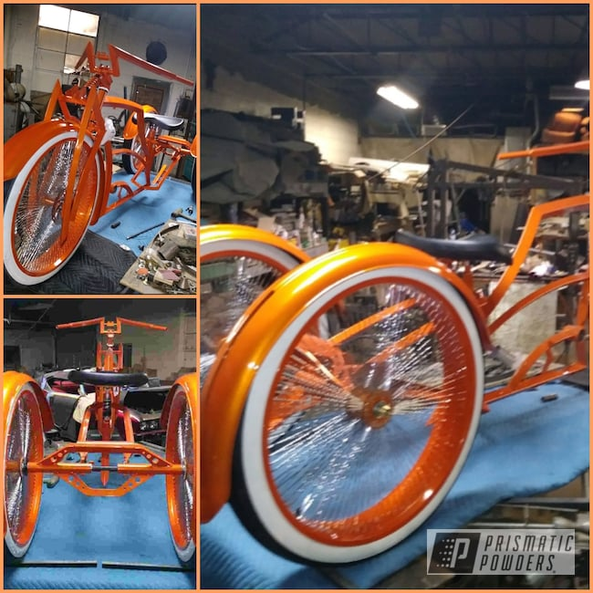 Powder Coating: Bicycles,Clear Vision PPS-2974,Bike,Illusion Orange PMS-4620