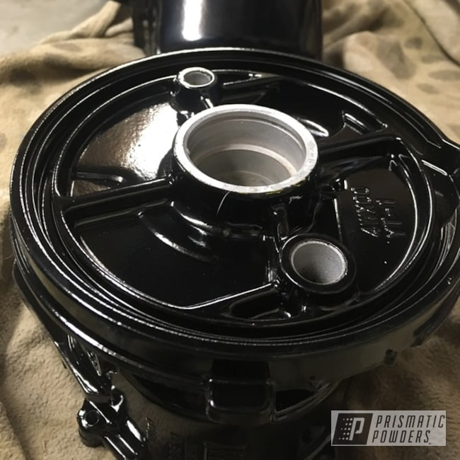 Powder Coating: Custom Motorcycle Parts,Ink Black PSS-0106,Motorcycles