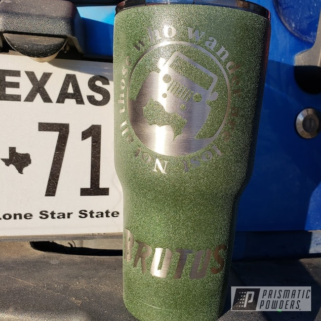 Powder Coating: Bayou Green Texture,Bayou Green Texture PTB-8138,Custom Tumbler Cup
