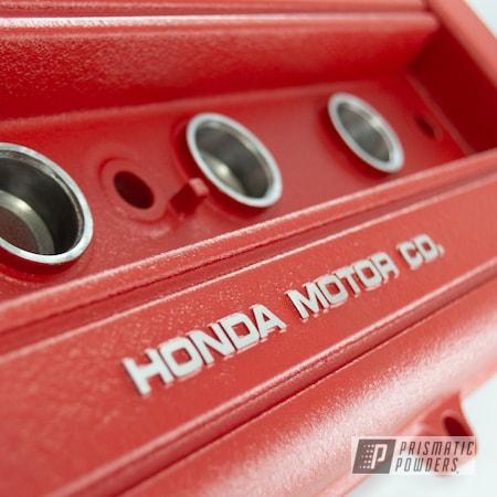 Powder Coating: Honda,Desert Red Wrinkle PWS-2762,Valve Cover