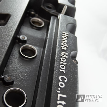 Powder Coating: Automotive,Honda,Black Wrinkle,Desert Nite Black PWS-2859,Valve Cover