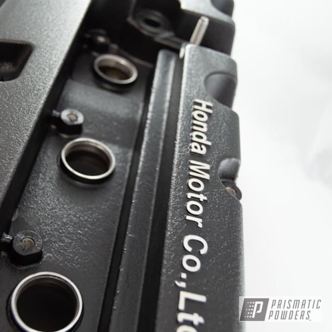 Black Powder Coated Honda Valve Cover