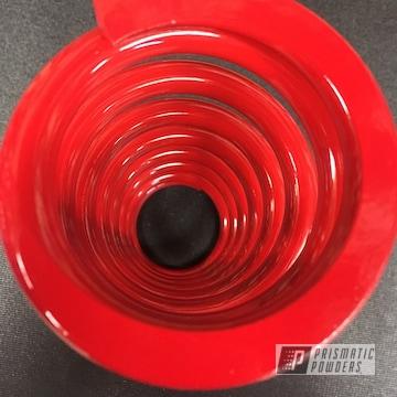 Red Powder Coated Moto Shock Spring