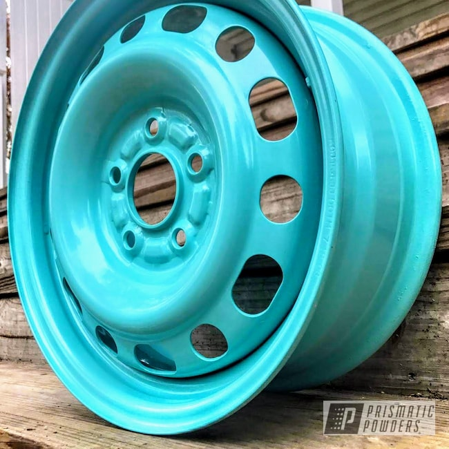 Powder Coating: Wheels,Automotive,15inch,Rims,Civic,Sea Foam Pearl PMB-6797