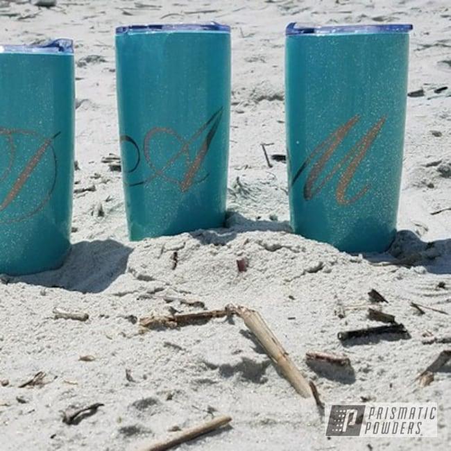 Powder Coating: Tumbler,Rockstar Sparkle PPB-5835,Sea Foam Pearl PMB-6797,Custom 2 Coats,Custom Tumbler Cups,Miscellaneous