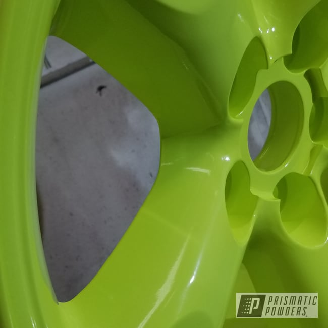 Powder Coating: Wheels,Automotive,Custom Rim,Neon Yellow PSS-1104