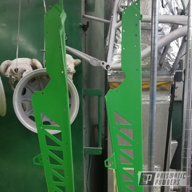 Powder Coating: Snowmobile,Lime Peel PRB-6841,Textured,Custom Snowmobile