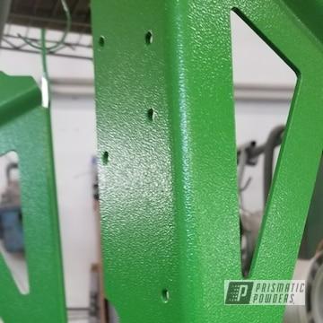 Green Powder Coated Snowmobile Frame
