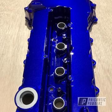 Blue Powder Coated Evo X Valve Cover