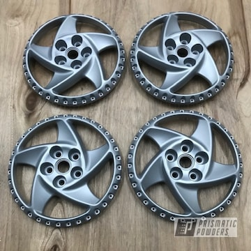 Powder Coated Silver Ferrari Testarossa Wheels
