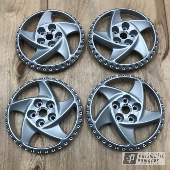 Powder Coating: Wheels,Porsche Silver PMS-0439,Automotive,15inch,testarossa,Ferrari