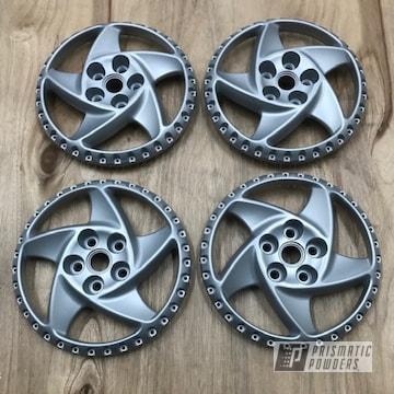 Powder Coated Silver Ferrari Testarossa Wheels