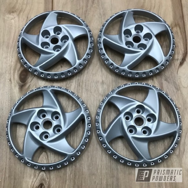 Powder Coating: Wheels,Porsche Silver PMS-0439,Automotive,15inch,testarossa,Ferrari