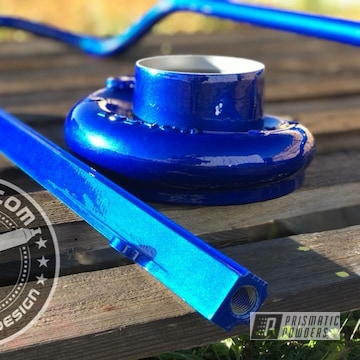 Blue Powder Coated Turbo Parts