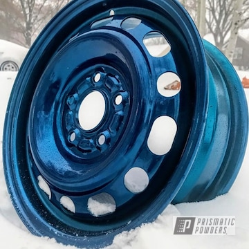 Teal Blue Powder Coated Civic Rim