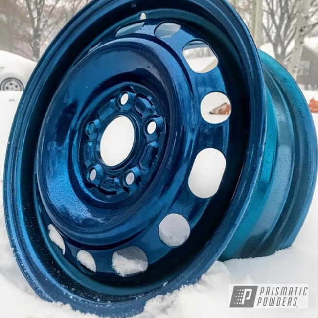 Powder Coating: Wheels,15inch,SUPER CHROME USS-4482,Civic,Peeka Blue PPS-4351
