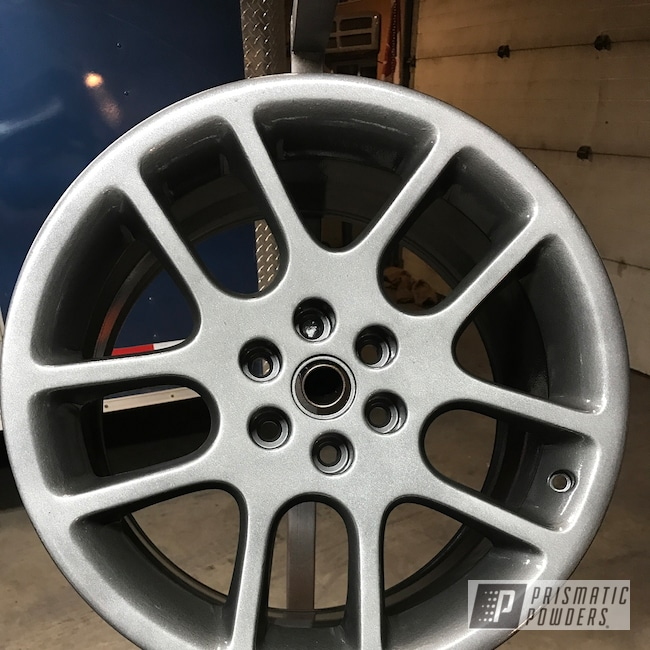 Powder Coating: Wheels,Automotive,Heavy Silver PMS-0517,Dodge,BBS,Dodge Viper,18inch