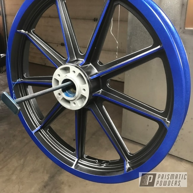 Powder Coating: Matt Black PSS-4455,Wheels,Harley Davidson,Clear Vision PPS-2974,Illusion Blueberry PMB-6908,Motorcycles