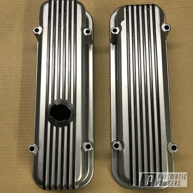 Powder Coating: Matt Black PSS-4455,BMW Silver PMB-6525,Automotive,Valve Covers,Refinish