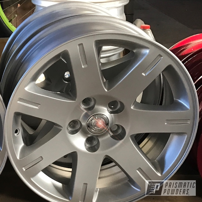 Powder Coating: Wheels,BMW Silver PMB-6525,Automotive,18inch