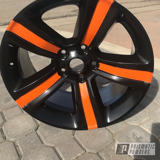 Powder Coating: Wheels,Matte Black PSS-4455,Automotive,Two Tone,Ram,Bright Orange PSS-0879,18inch