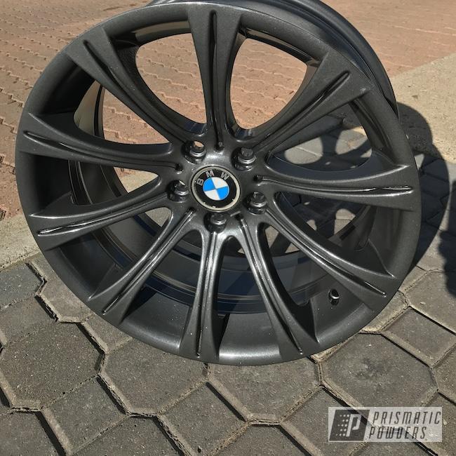 "Powder Coating: Wheels,Automotive,BMW,20"",ULTRA BLACK CHROME USS-5204"